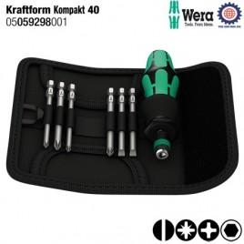 Bộ Kraftform Kompakt 40 – WERA 05059298001(7 chiếc)