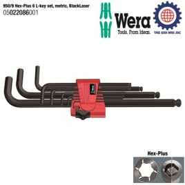 Lục giác đầu bi (Hexagon socket screws,long 9pcs) – Wera 05022086001