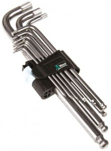 Wera L Shape Hex Key Set 9 pieces Stainless Steel