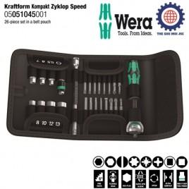 Bộ tuýp 26 chi tiết 1/4 inch Wera 05051045001