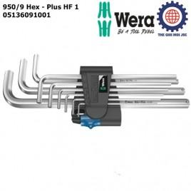 Bộ lục giác 950/9 Hex-Plus HF 1(holding function) với bi giữ chặt – Wera 05136091001