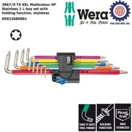 3967/9 TX SXL Multicolour HF Stainless 1 L-key set with holding function, stainless Wera 05022689001