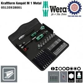 BỘ KHẨU 1/4″ Kraftform Kompakt M 1 Metal GỒM 39 CHI TIẾT WERA 05135928001