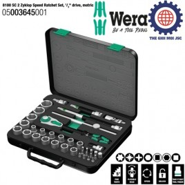 Bộ tuýp 8100 SC 2 Zyklop Speed Ratchet, 1/2″, hệ mét – WERA 05003645001