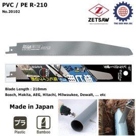 Lưỡi cưa máy cao cấp cưa ống nước (ống nhựa) và tre PVC / PE R-210 – Zetsaw 20102
