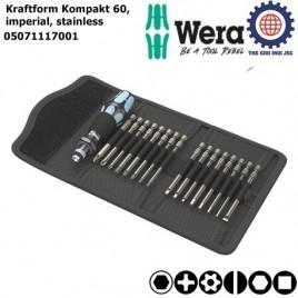 Bộ Kraftform Kompakt 60,imperial, thép không rỉ – WERA 05071117001