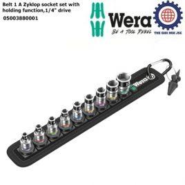 """Bộ đầu đầu tuýp Belt 1 Zyklop socket với bi giữ chặt, 1/4""""drive Wera 05003880001"""