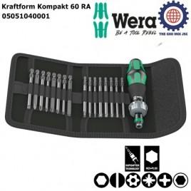 Bộ dụng cụ Kraftform Kompakt 60 RA Wera 05051040001 gồm 17 chi tiết