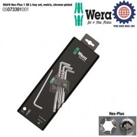 Bộ khóa lục giác dài 9 cái 950/9 Hex-Plus 1 SB Wera 05073391001