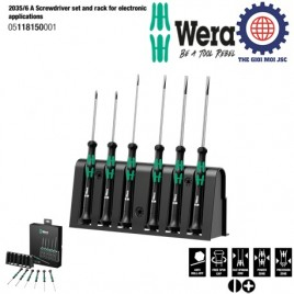2035/6 A Screwdriver set and rack for electronic applications – WERA 05118150001