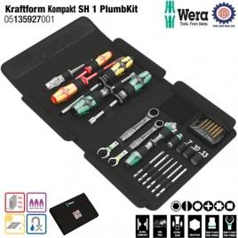 Bộ dụng cụ cao cấp bảo trì & sửa chữa Kraftform Kompakt SH 1 PlumbKit Wera 05135927001