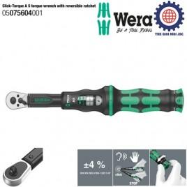 Cần xiết cân chỉnh lực Click-Torque A 5, 2.5 – 25Nm Wera 05075604001