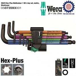 Bộ lục giác dài nhiều màu sắc 9 cái 950/9 Hex-Plus Multicolour 1 SB Wera 05073593001