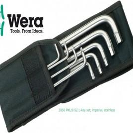 Bộ lục giác thép không rỉ hệ inch 3950 PKL/9 SZ L-key set, imperial, stainless – WERA 05022721001