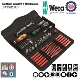Bộ dụng cụ cao cấp bảo trì máy Kraftform Kompakt W 1 Maintenance – WERA