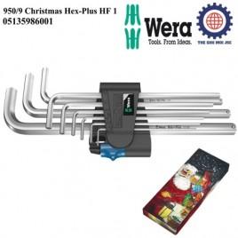 Bộ lục giác 950/9 Christmas Hex-Plus HF 1(holding function) với bi giữ chặt – Wera 05135986001
