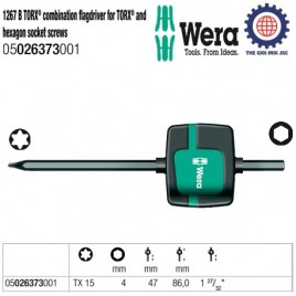 1267 B TORX® combination flagdriver for TORX® and hexagon socket screws – Wera 05026373001