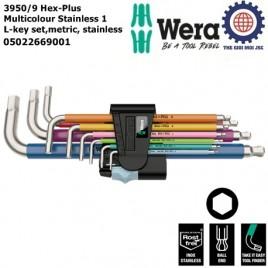 Bộ lục giác đầu bi Wera thép không gỉ nhiều màu sắc 9 cái 950/9 Hex-Plus Multicolour Stainless 1 Wera 05022669001