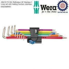 Bộ khóa lục giác hoa thị thép không gỉ nhiều màu sắc với chức năng giữ Wera 05022689001