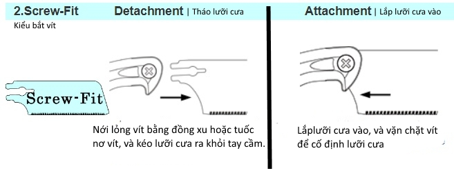 Hướng dẫn thay thế lưỡi cưa và bảo dưỡng cưa cầm tay Zetsaw nhật bản