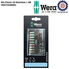 Bộ đầu vít thép không gỉ Bit-Check 10 Stainless 1 SB Wera 05073630001