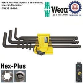 Bộ khóa lục giác Wera hệ inch 950/9 Hex-Plus Imperial 1 SB gồm 9 cái Wera 05133180001