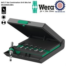 Bộ mũi khoan Wera 847/7 Set Combination Drill Bits Set 7 cái Wera 05104651001