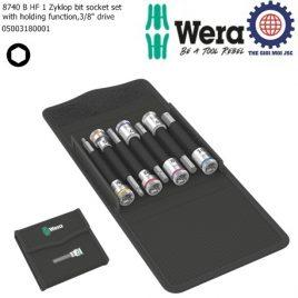 Bộ tuýp đầu vít lục giác dài 3/8″ 8740 B HF 1 với chức năng giữ gồm 7 cái Wera 05003180001