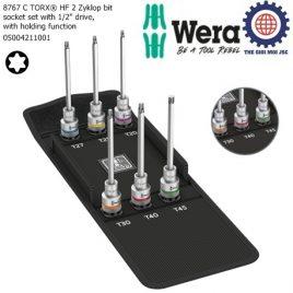 Bộ tuýp đầu vít hoa thị dài 1/2″ 8767 C TORX® HF 2 với chức năng giữ gồm 6 cái Wera 05004211001