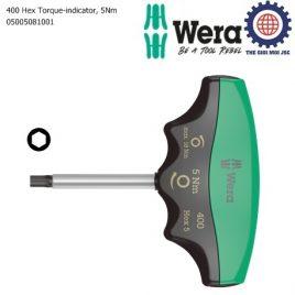 Tay vặn lực lục giác 5mm cố định lực 5Nm, 400 Hex Torque-indicator Wera 05005081001