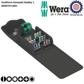 Bộ Kraftform Kompakt Stubby 1 với cán vít ngắn và các vít BiTorsion Wera 05057471001