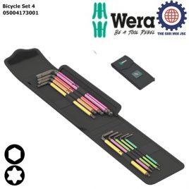 Bộ lục giác có bi giữ và hoa thị chức năng giữ vít cho sửa xe đạp Bicycle Set 4 gồm 9 cái Wera 05004173001