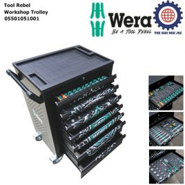 【Phiên bản giới hạn】Thùng dụng cụ Tool Rebel Workshop Trolley Wera 05501051001
