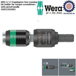Đầu nối tua vít lực 889/4/1 F Rapidaptor free-running bit holder for torque screwdrivers with pistol handle Wera 05052501001