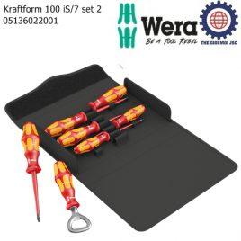 Bộ tua vít cách điện Kraftform 100 iS/7 set 2 với túi vải cao cấp và mở nắp chai Wera 05136022001